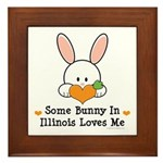 Some Bunny In Illinois Loves Me Framed Tile