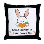 Some Bunny In Iowa Loves Me Throw Pillow