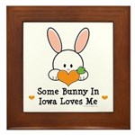Some Bunny In Iowa Loves Me Framed Tile