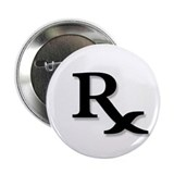 Pharmacy Rx Symbol 2.25&quot; Button (10 pack)