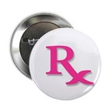 Pharmacy Rx Symbol 2.25&quot; Button