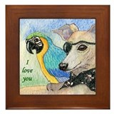 With 'I love you' Framed Tile