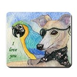 With 'I love you' Mousepad