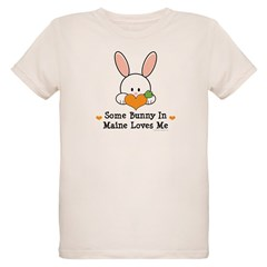 Some Bunny In Maine Loves Me Organic Kids T-Shirt
