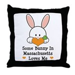 Some Bunny In Massachusetts Throw Pillow