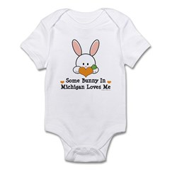 Some Bunny In Michigan Loves Me Infant Bodysuit