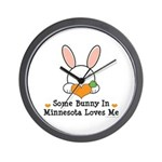Some Bunny In Minnesota Loves Me Wall Clock