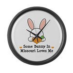 Some Bunny In Missouri Loves Me Large Wall Clock