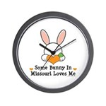 Some Bunny In Missouri Loves Me Wall Clock