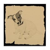 Vintage Jack Russell Tile Coaster