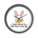 Some Bunny In New York Loves Me Wall Clock