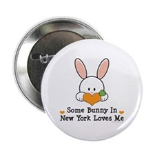 "Some Bunny In New York Loves Me 2.25"" Button (10 p"