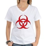 Biohazzard Women's V-Neck T-Shirt