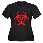 Biohazzard Women's Plus Size V-Neck Dark T-Shirt