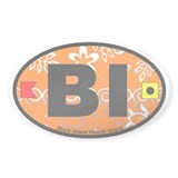 Block Island RI - Oval Design. Decal