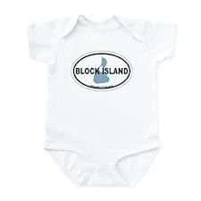 Block Island RI - Oval Design. Onesie