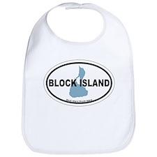 Block Island RI - Oval Design. Bib