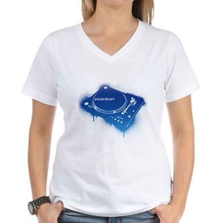 Stanton Str8-150 Graffiti Women's V-Neck T-Shirt