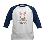Some Bunny In North Dakota Kids Baseball Jersey