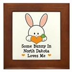 Some Bunny In North Dakota Framed Tile