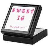 sweet 16 year Keepsake Box