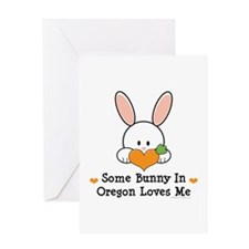 Some Bunny In Oregon Loves Me Greeting Card