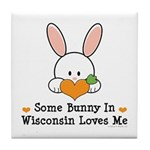 Some Bunny In Wisconsin Tile Coaster