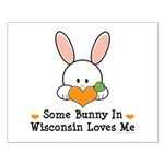Some Bunny In Wisconsin Small Poster