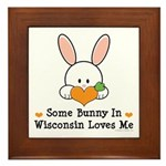 Some Bunny In Wisconsin Framed Tile