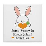 Some Bunny In Rhode Island Tile Coaster