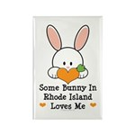 Some Bunny In Rhode Island Rectangle Magnet (10 pa