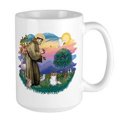 St. Francis #2 / Papillon (sw) Large Mug