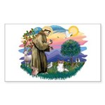 St. Francis #2 / Papillon (sw) Sticker (Rectangle)