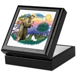 St. Francis #2 / Papillon Keepsake Box