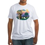 St. Francis #2 / Papillon Fitted T-Shirt
