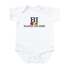Block Island RI - Nautical Design Onesie