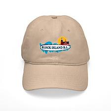 Block Island RI - Surf Design Baseball Cap