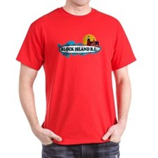 Block Island RI - Surf Design T-Shirt