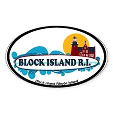 Block Island RI - Surf Design Decal