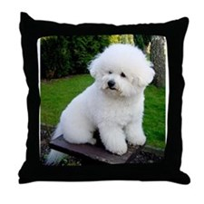 Cute Bichon frise Throw Pillow
