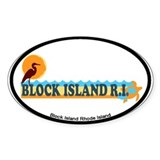 Block Island RI - Beach Design Decal