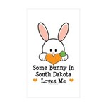 Some Bunny In South Dakota Sticker (Rectangle 50 p
