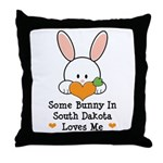 Some Bunny In South Dakota Throw Pillow