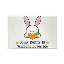 Some Bunny In Vermont Loves Me Rectangle Magnet