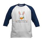 Some Bunny In Washington Kids Baseball Jersey