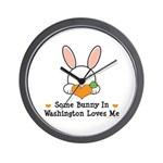 Some Bunny In Washington Wall Clock