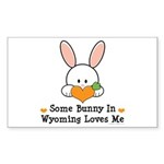 Some Bunny In Wyoming Loves Me Sticker (Rectangle