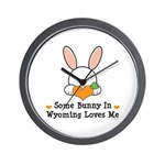 Some Bunny In Wyoming Loves Me Wall Clock