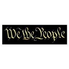 """We The People"" Bumper Bumper Sticker"