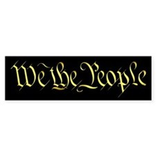 """We The People"" Bumper Car Sticker"